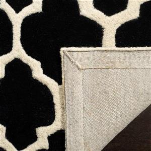 Chatham Trellis Rug - 2' x 3' - Wool - Black