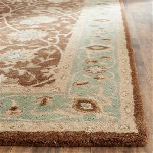 Antiquity Floral Rug - 2' x 3' - Wool - Brown