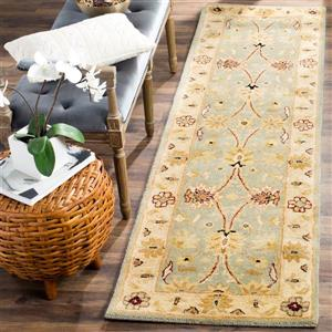 Antiquity Floral Rug - 2.3' x 8' - Wool - Ivory