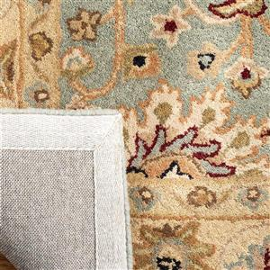 Antiquity Floral Rug - 3.5' x 3.5' - Wool - Light Blue