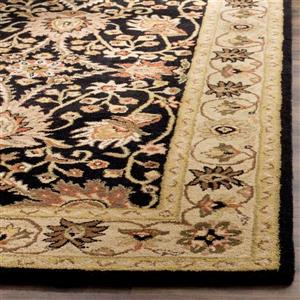Antiquity Floral Rug - 2' x 3' - Wool - Black