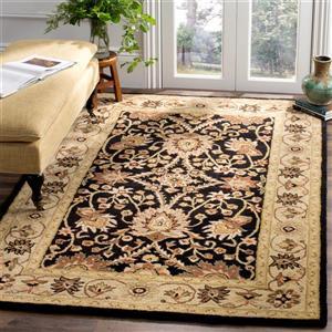 Antiquity Floral Rug - 3' x 5' - Wool - Black