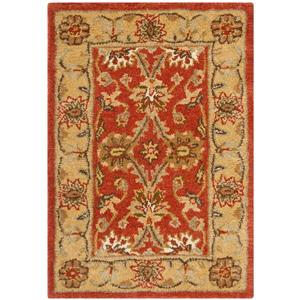 Antiquity Floral Rug - 2' x 3' - Wool - Orange