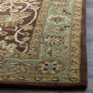 Antiquity Floral Rug - 2.3' x 4' - Wool - Chocolate