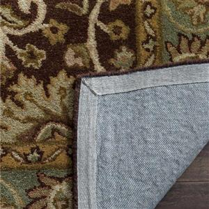 Antiquity Floral Rug - 3.5' x 3.5' - Wool - Chocolate