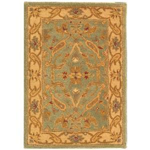 Antiquity Floral Rug - 2' x 3' - Wool - Teal
