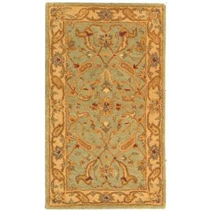 Antiquity Floral Rug - 2.3' x 4' - Wool - Teal