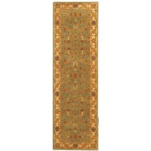 Antiquity Floral Rug - 2.3' x 8' - Wool - Teal
