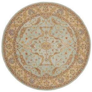 Antiquity Floral Rug - 3.5' x 3.5' - Wool - Teal