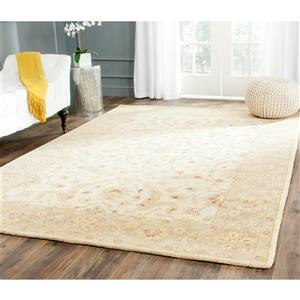 Antiquity Floral Rug - 11' x 15' - Wool - Ivory