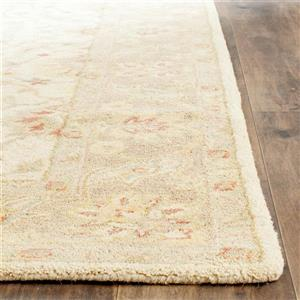Antiquity Floral Rug - 3.5' x 3.5' - Wool - Ivory
