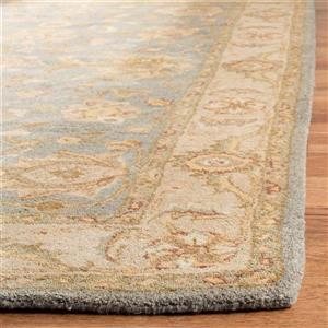 Antiquity Floral Rug - 12' x 18' - Wool - Blue