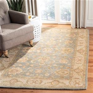 Antiquity Floral Rug - 11' x 17' - Wool - Blue
