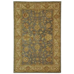 Antiquity Floral Rug - 2' x 3' - Wool - Blue