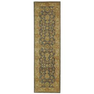Antiquity Floral Rug - 2.3' x 8' - Wool - Blue