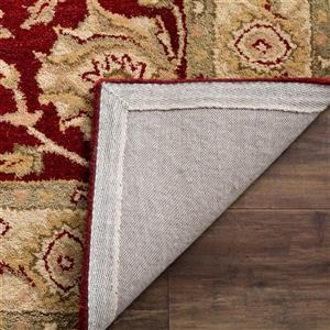 Antiquity Floral Rug - 2' x 3' - Wool - Red