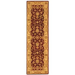 Antiquity Floral Rug - 2.3' x 8' - Wool - Red