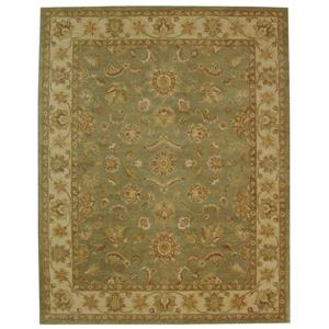 Antiquity Floral Rug - 11' x 15' - Wool - Green