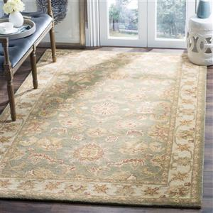 Antiquity Floral Rug - 11' x 17' - Wool - Green
