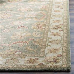 Antiquity Floral Rug - 2' x 3' - Wool - Green