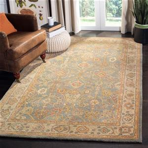 Antiquity Floral Rug - 3' x 5' - Wool - Blue