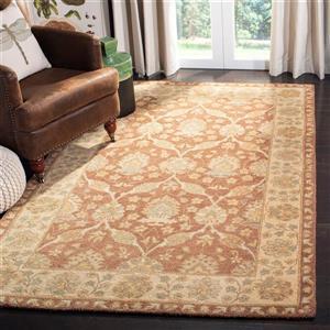 Antiquity Floral Rug - 3' x 5' - Wool - Brown