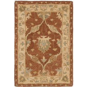 Antiquity Floral Rug - 2' x 3' - Wool - Brown