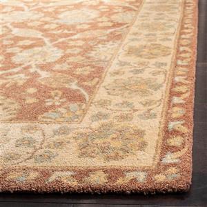 Antiquity Floral Rug - 2.3' x 8' - Wool - Brown