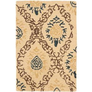 Antiquity Floral Rug - 2' x 3' - Wool - Light Gold