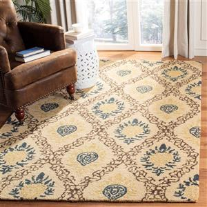 Antiquity Floral Rug - 3' x 5' - Wool - Light Gold