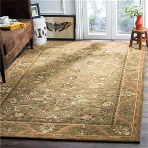 Antiquity Floral Rug - 2.3' x 4' - Wool - Green