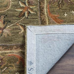 Antiquity Floral Rug - 3.5' x 3.5' - Wool - Green