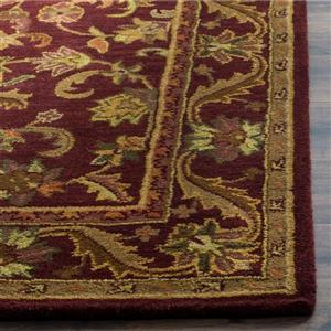 Antiquity Floral Rug - 2.3' x 4' - Wool - Burgundy