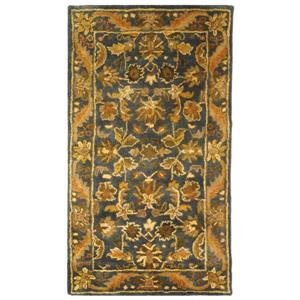 Antiquity Floral Rug - 2.3' x 4' - Wool - Blue