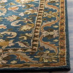 Antiquity Floral Rug - 3.5' x 3.5' - Wool - Blue