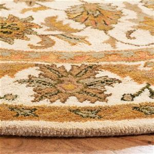 Antiquity Floral Rug - 2.3' x 4' - Wool - Gold
