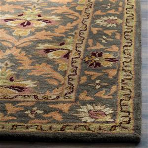 Antiquity Floral Rug - 3.5' x 3.5' - Wool - Sage