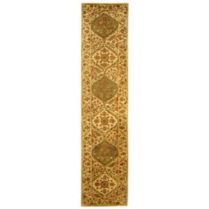 Antiquity Floral Rug - 2.3' x 8' - Wool - Beige