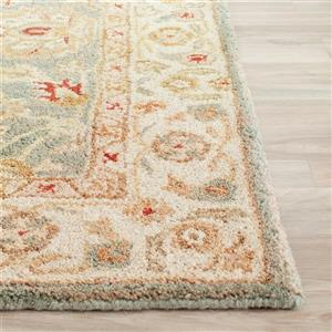 Antiquity Floral Rug - 11' x 16' - Wool - Gray