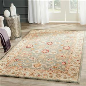 Antiquity Floral Rug - 12' x 15' - Wool - Gray