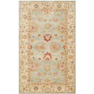 Antiquity Floral Rug - 3' x 5' - Wool - Gray