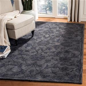Antiquity Floral Rug - 2.3' x 4' - Wool - Gray