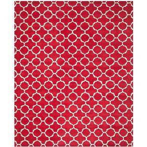 Chatham Geometric Rug - 8.8' x 12' - Wool - Red