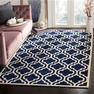 Chatham Geometric Rug - 8.8' x 12' - Wool - Dark Blue