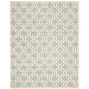 Chatham Geometric Rug - 8.8' x 12' - Wool - Gray