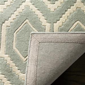 Chatham Geometric Rug - 8.8' x 12' - Wool - Gray