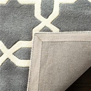 Chatham Geometric Rug - 8.8' x 12' - Wool - Dark Gray