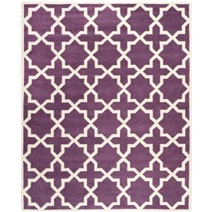 Chatham Geometric Rug - 8.8' x 12' - Wool - Purple