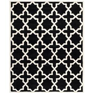 Chatham Geometric Rug - 8.8' x 12' - Wool - Black
