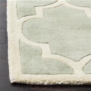 Chatham Trellis Rug - 8.8' x 12' - Wool - Gray